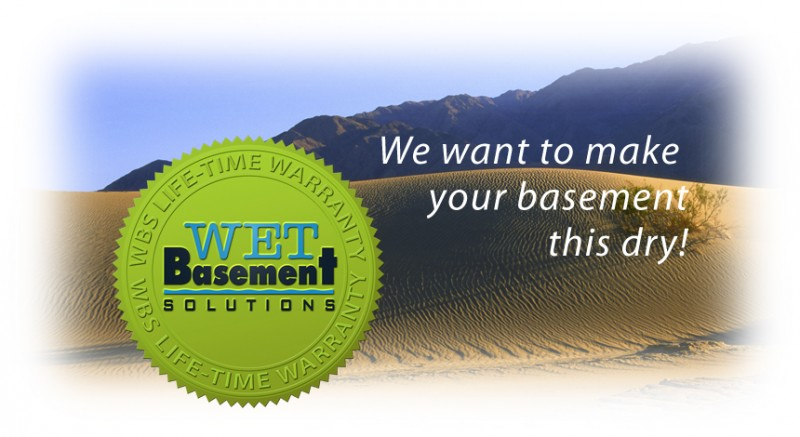 Lifetime guarantee on leaking basement repair services