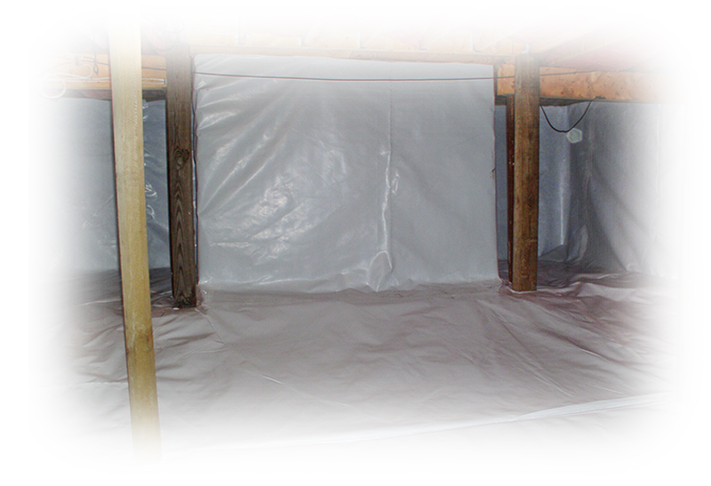 Crawlspace wrapping for waterproofing services
